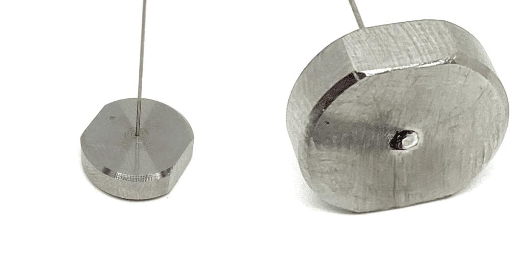 Piezas con puntos de soldadura láser manual